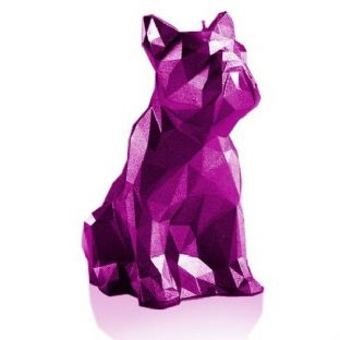 Candellana - Bulldog Low Poly Candle - Metallic Pink